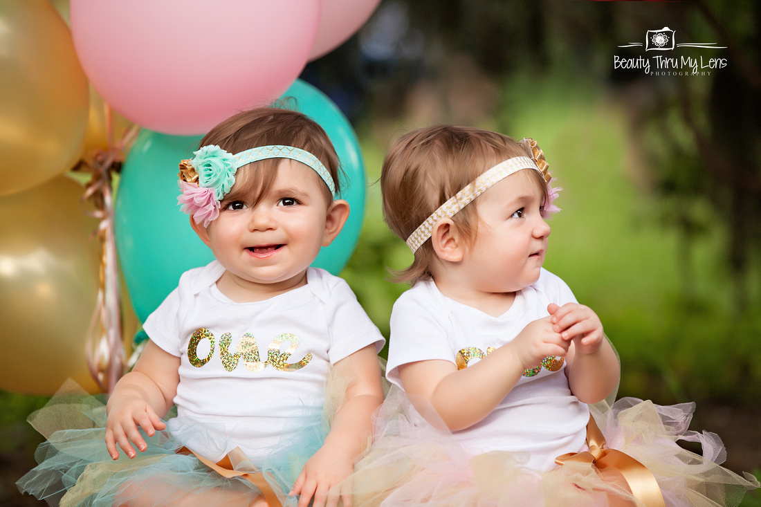 Twins First Birthday Session